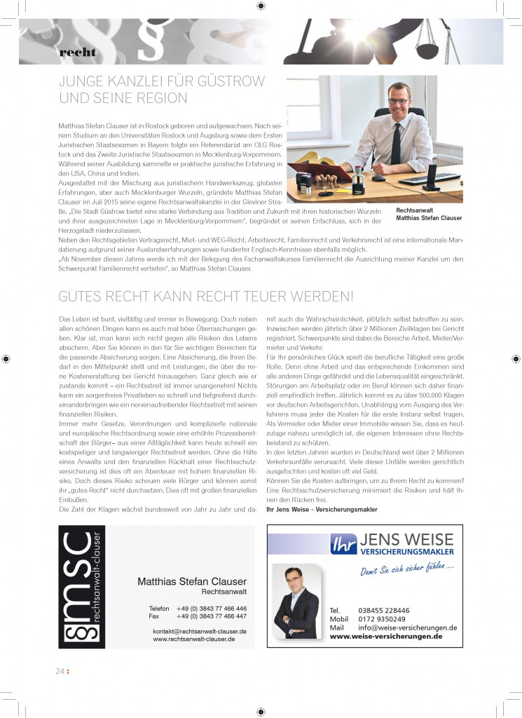 thema das Guestrowjournal - September 2016 - msc